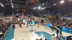 Shark's Antibes contre Cholet en match de PRO A